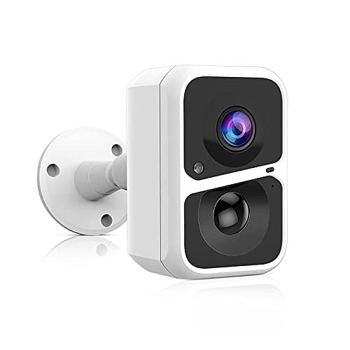 Telecamera Videosorveglianza WiFi Interno/Esterno Senza Fili con 5200mAh Batteria, HD 1080P Videocamera di Sorveglianza, Audio Bidirezionale, Visione Notturna, Allarme Sonoro e Luminoso