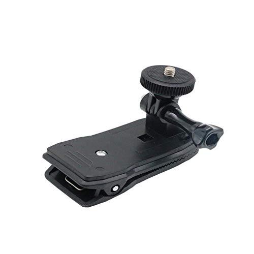 LICHONGUI Montaje de la Abrazadera del Clip de la Mochila giratoria de 360 Grados para Gopro SJCAM SJ4000 Xiaomi Yi Sport Camera