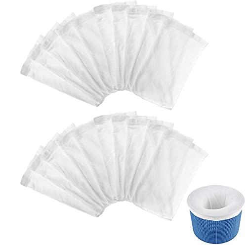 Elehui 20 Stücke Pool Skimmer Socken Schwimmbad Skimmer Filter Pool Filter Netz Wiederverwendbar für Schwimmbad und Whirlpools