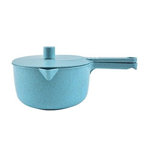 Homiki Salatschleuder, Multifunktionsweizenstroh Obst Handkurbel Dörr, Mixer für Küche, Blau