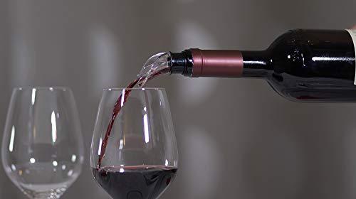 Matic_Milano SALVAGOCCIA Universale per Vino (4 PZ) Eleganti versatori per Vino, con Stopper Salva freschezza
