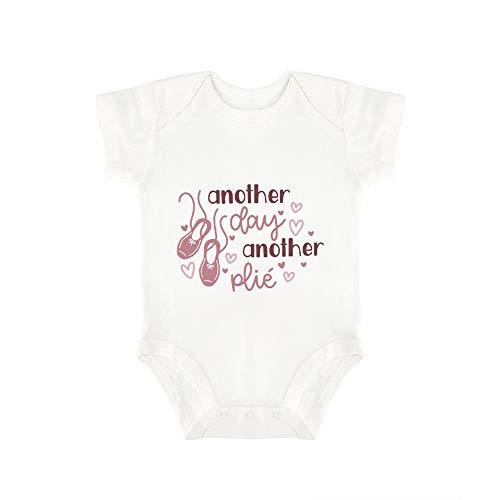Promini Combinaison pour bébé avec inscription « Another Day Another Plie » - Blanc - 18 mois