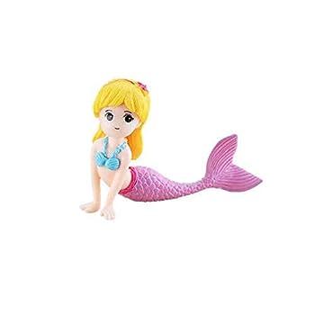DAWEIF Cute Little Mermaid Ornament Aquarium Fish Tank Desk Decoration Accessories for Christmas Holiday