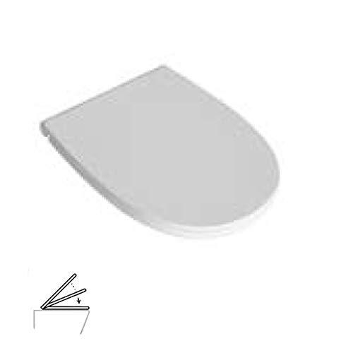 Sedile Originale GLOBO - WC 4ALL Soft Close Art. MDR20BI; Con Paracolpi Antiscivolo, Coprivaso; Tavoletta Chiusura Lenta, Sistema di Fissaggio Rapido per una Facile Installazione.