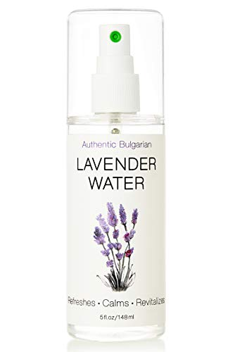 Lavender Water Spray Mist Toner - USDA Certified Organic - Steam-distilled Lavender with Stem - 100% Pure Face Hydrosol - Handpicked & Produced in Bulgaria - Relaxes Calms Refreshes Restores 5oz