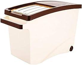 Nfudishpu Storage Box Kitchen Food Storage Container Rice Nfudishpu Storage Box 10/15kg Plastic Moisture Proof Cereal Cont...