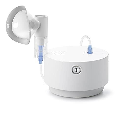 Omron X105 Advanced - Nebulizador Todo en Uno para Enfermedades Respiratorias Agudas y Crónicas, Apto para Toda la Familia, color Blanco