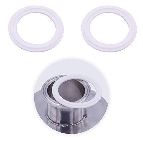 YouU 8 Stück Dichtungsringe Silikon Dichtung Sanitär Für Tri Clamp Typ Ferrule Dichtungen Weiß O-Ringe 1,5-Zoll- / 2-Zoll-Ausführung für Außendurchmesser 50,5 mm/Außendurchmesser 64 mm (2 inch)