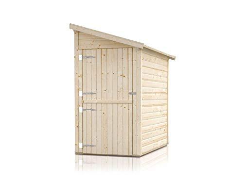 Alpholz Anbauschuppen Klon aus Massiv-Holz | Gerätehaus-Anbau mit 19 mm Wandstärke | Anbau Holzhaus inklusive Montagematerial | Geräteschuppen Größe: 120 x T 150 cm | Pultdach