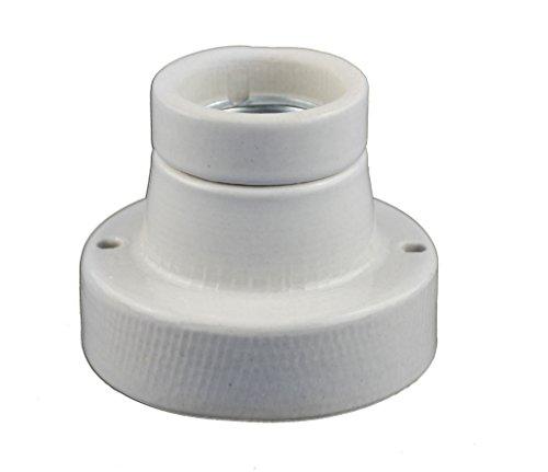 Keramikfassung / Porzelanfassung Deckenfasung mit E27 Gewinde für (Gerade)