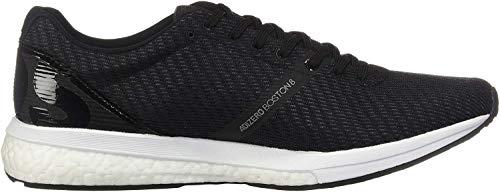 adidas Men's Adizero Boston 8 Running Shoe, Black/White/Grey, 12 M US