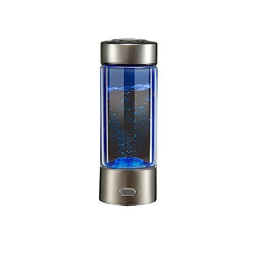 Jiuyue Wasserstoffreicher Wasserbecher, Tragbarer Wasserstoffreicher Gesundheitswasserbecher, Wiederaufladbare 350 Ml-Flasche Mit Ionisiertem Wasser, Anti-Aging- Und Antioxidationsglasflasche -C