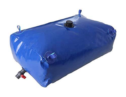 Herramientas de jardinería Envase de almacenamiento de agua de gran capacidad, tanque de agua de luz plegable con grifo, bolsa de almacenamiento de agua de emergencia resistente a la sequía portátil p