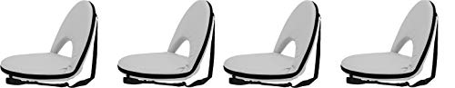 Stansport - Go Anywhere Multi-fold Comfy Padded Floor Chair with Back Support (Gray) (Pack of 4)
