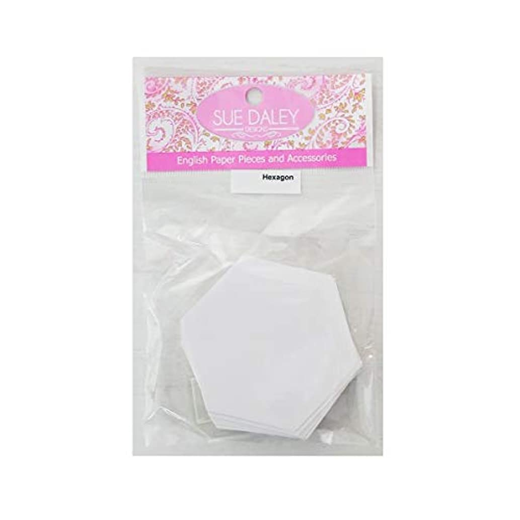 SUE DALEY DESIGNS Hexagon Papers Patchwork with Busyfingers HEX EPP English Paper Piecing 2 Packs (200 Pieces Total) (1 inch)