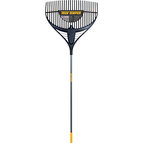 True Temper 2919200 Poly Leaf Rake with 60-in. Vinyl-Coated Handle with Cushion Grip, 26 Inch