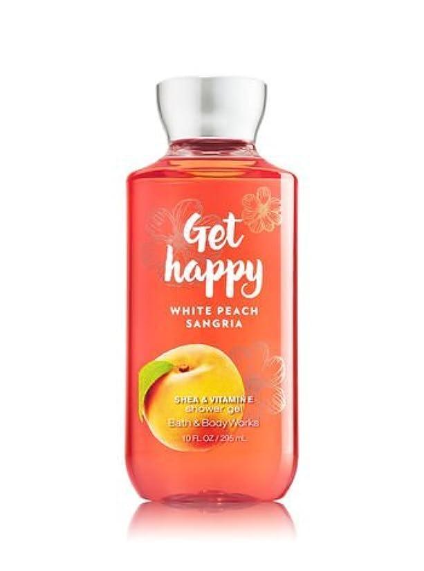 傑出したしがみつく遠近法【Bath&Body Works/バス&ボディワークス】 シャワージェル ホワイトピーチサングリア Shower Gel Get Happy White Peach Sangria 10 fl oz / 295 mL [並行輸入品]