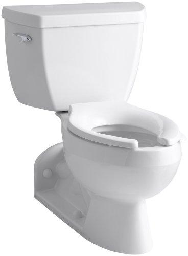 Kohler K-3652-0 Barrington Pressure Lite Toilet with Elongated Bowl and Left-Hand Trip Lever, White
