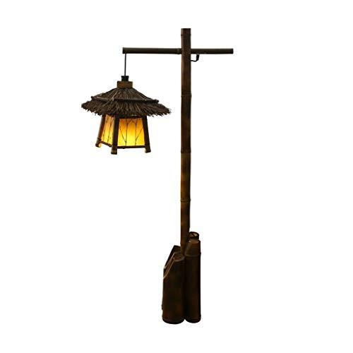 Instelbare vloerlamp antieke wandlamp bamboe handlamp retro tuin bamboe lamp gang gang bed theestube staande lamp Japanse stijl hoofdverlichting