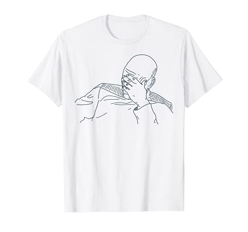 Star Trek Next Generation Picard Face Palm Graphic T-Shirt