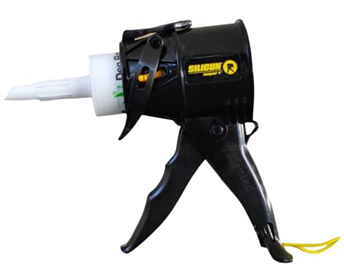 SILIGUN Caulking Gun - Anti Drip Extreme-Duty Caulking Gun - Patented New and Innovative Design - Lightweight ABS Frame - for the Smallest to the Largest Jobs - Compact-Design Just 4 Inches / 0.65 lbs