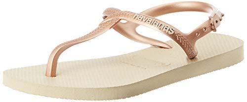 Havaianas Damen Twist T-Spangen Sandalen, Beige (Sand Grey 0154), 37/38 EU