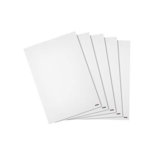 Amazon Basics Flipchart-Papier, blanko, 20 Blatt, 680 x 980 mm, 5 Stück