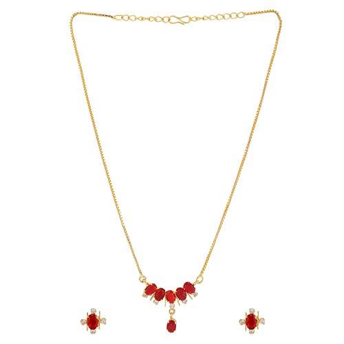 Efulgenz Collar con colgante de diamante tradicional étnico americano con cadena y pendientes para mujeres y niñas