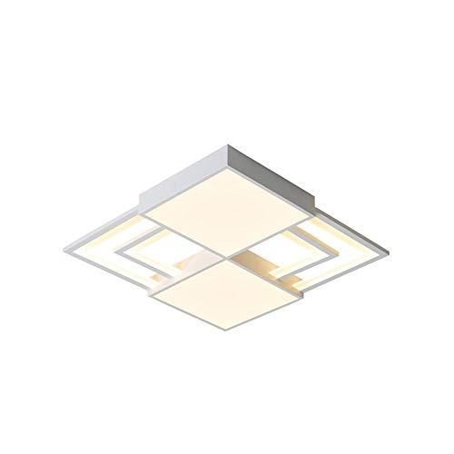 FJY LED Deckenlampe Schlafzimmer Deckenlampe Wohnzimmerlampe quadratische Atmosphäre Lampe ultradünne schmiedeeiserne Deckenlampe kreative Lampe