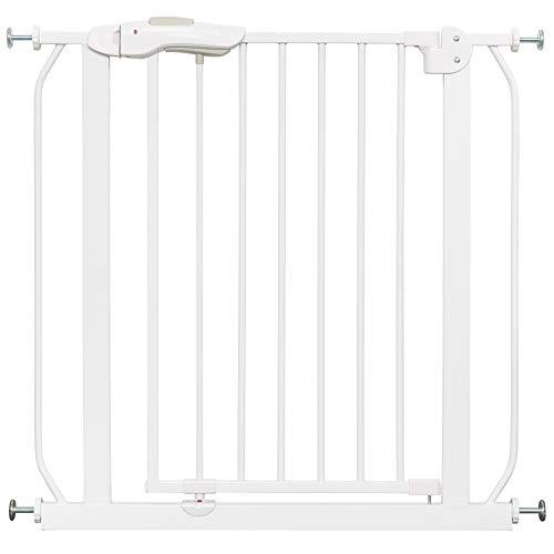 IB-Style - Cancello di sicurezza/Cancelletto securella MIKA | 75-175 cm | Auto-Close| 90° fissazione | metallo bianco | ampiezza 150-160 cm + 2 X adattatore Y