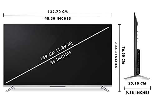 iFFALCON 139 cm (55 inches) 4K Ultra HD Smart Certified Android LED TV 55K71 (Sliver) (2021 Model)| With Voice Control 4
