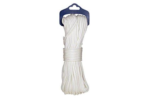 Cofan 08101122 Cordón para persianas, Blanco, 5 mm x 20 m
