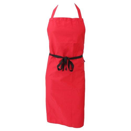 Dennys Unisex Küchenschürze (ohne Taschen) / Küchen Arbeitskleidung (One Size) (Rot)