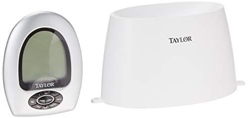 TAYLOR Pluviomètre sans fil avec thermomètre