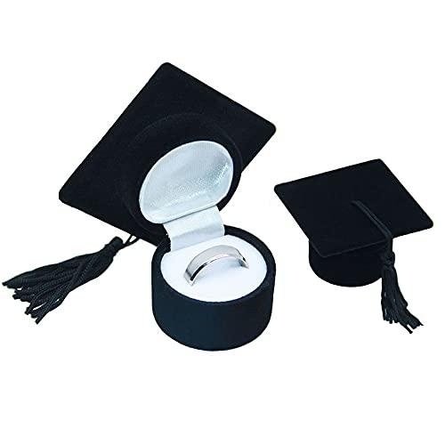 YeenGreen Caja de Anillo, Anillo de Caja de Regalo de Sombrero Caja de Regalo Caja de Gorra de Soltero Almacenamiento de Caja Joyería Caja de Anillo de Regalo de Graduación de la Universidad