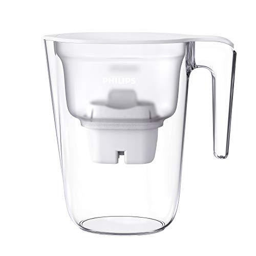 Philips Carafe filtrante Mayflower 2,6 L Blanche + 1 filtre Micro X-Clean