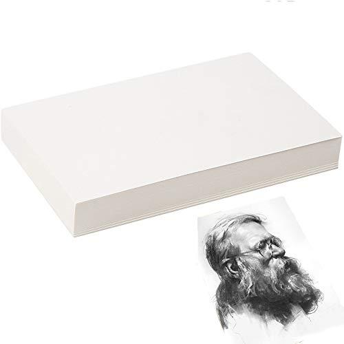 Gfdg Carta per Acquerello,20 Fogli Blocco Carta Acquarello,Carta da Pittura,Carta da Disegno,Carte da Acquerello in Cotone,Carta Acquerello Fogli Disegno,per Artisti e Principianti(4K)