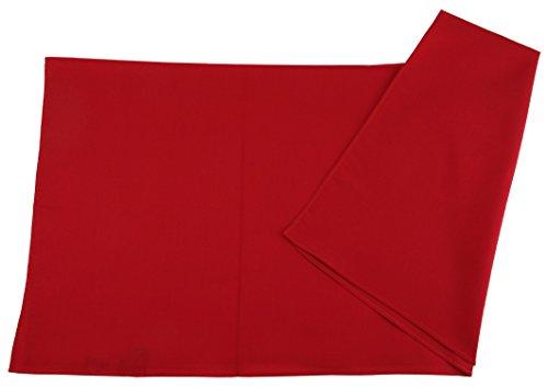 TigerTie TigerTie Damen Nickituch Halstuch in rot einfarbig Uni - Tuchgröße 60 x 60 cm - 100% Baumwolle