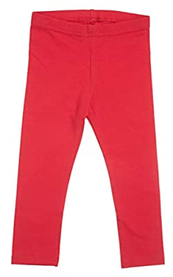 Silky Toes Baby Leggings, Toddler Soft Cotton Pants for Girls and Boys (12-18 Months, Red)
