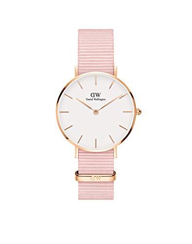 Daniel Wellington Classic Petite DW00100317 - Reloj de pulsera para mujer (mecanismo de cuarzo, cristal mineral), color blanco y rosa