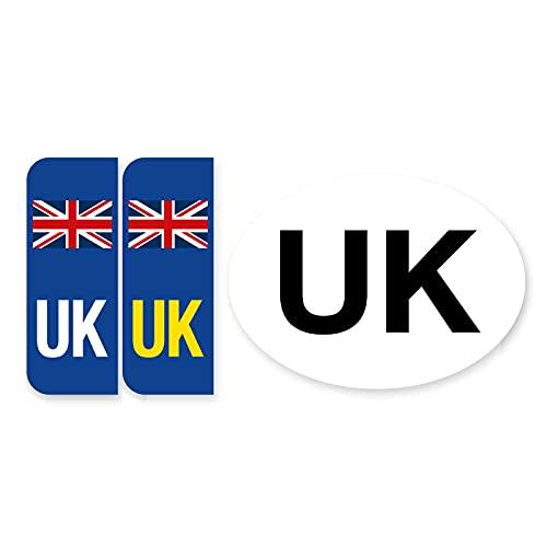 Pair of Road Legal UK United Kingdom Symbol...