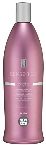 RUSK Sensories Bright Chamomile and Lavender Brightening Shampoo, 13.5 Oz, Color-Enhancing Conditioner Improves Color and Tone of Lifeless, Dull Silver, Gray or White Hair