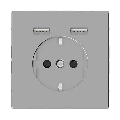 Merten SCHUKO-Steckdose m.USB Ladegerät eds MEG2366-6036