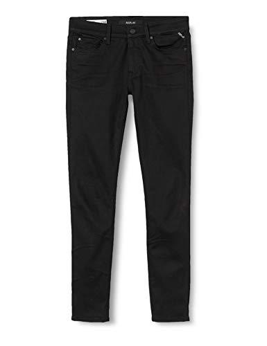 REPLAY New Luz Jeans, 098 Nero, 28W x 30L Donna
