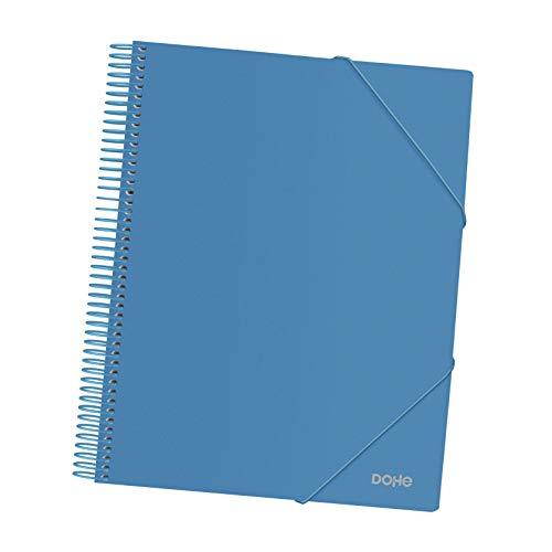 Carpeta de espiral - 30 fundas de 80 micras - Azul
