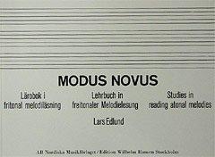 MODUS NOVUS - arrangiert für Buch [Noten / Sheetmusic] Komponist: EDLUND LARS