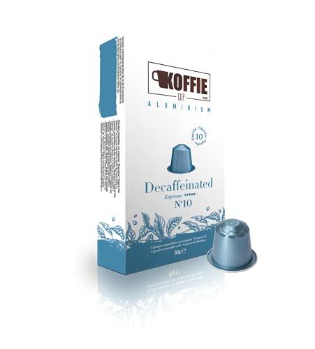 Koffie Cup Decaffeinated - 40 cápsulas de café de aluminio compatibles con...