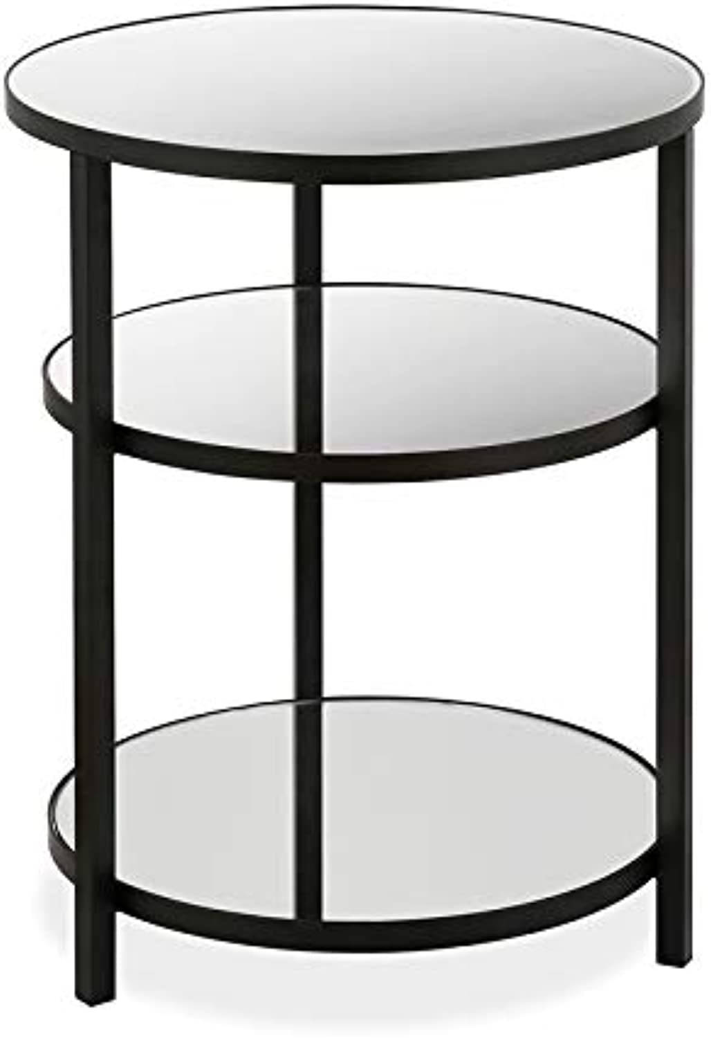 Three Tier blackend Bronze Side Table