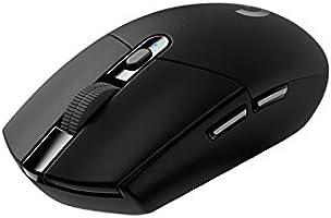 Mouse Gamer Sem Fio Logitech G305 LIGHTSPEED com 6 Botões Programáveis e Até 12.000 DPI - Preto