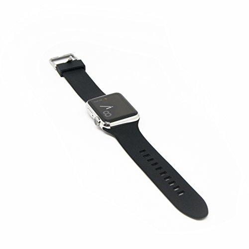 Aiino AIWWRSTWTCH42-BK Cinturino in Silicone per Apple Watch, Nero
